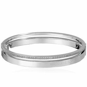 Michael Kors Silver Pave Split Bracelet NWT NIB